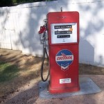 Vintage Original 1950's Chevron Gas Gasoline Pump 50''S 305.00