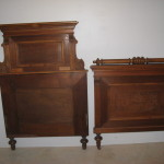 Set Lot Two Antique Twin Beds Eastlake Victorian Walnut 323.33