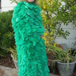 Vintage 60's Norman Norell Green Ostrich Feather Full Length Coat $2876.0