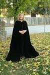 (1)- Vintage 60's Irene Lent Gibbons Lentz Black Velvet Opera Robe Cape Cloak 450.00